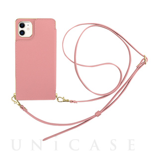 【iPhone11/XR ケース】Cross Body Case for iPhone11 (pink)