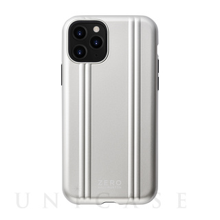 【iPhone11 Pro ケース】ZERO HALLIBURTON Hybrid Shockproof case for iPhone11 Pro (Silver)