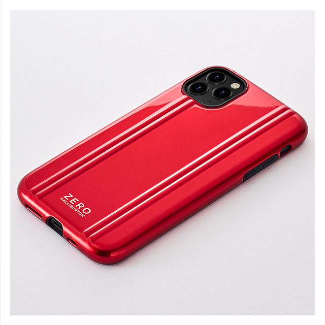 【iPhone11 Pro ケース】ZERO HALLIBURTON Hybrid Shockproof case for iPhone11 Pro (Red)サブ画像