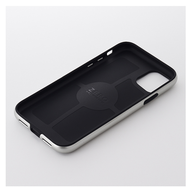 【iPhone11/XR ケース】ZERO HALLIBURTON Hybrid Shockproof case for iPhone11 (Silver)サブ画像