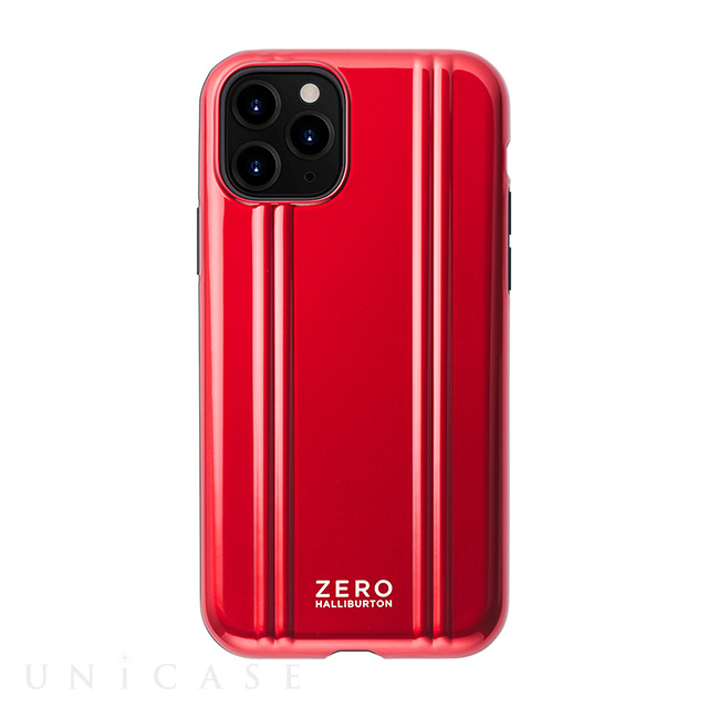 【iPhone11 Pro ケース】ZERO HALLIBURTON Hybrid Shockproof case for iPhone11 Pro (Red)