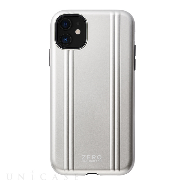 【iPhone11/XR ケース】ZERO HALLIBURTON Hybrid Shockproof case for iPhone11 (Silver)