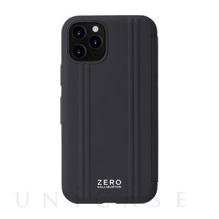 【iPhone11 Pro ケース】ZERO HALLIBURTON Hybrid Shockproof Flip case for iPhone11 Pro (Black)