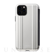 【iPhone11 Pro ケース】ZERO HALLIBURTON Hybrid Shockproof Flip case for iPhone11 Pro (Silver)