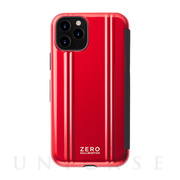 【iPhone11 Pro ケース】ZERO HALLIBURTON Hybrid Shockproof Flip case for iPhone11 Pro (Red)