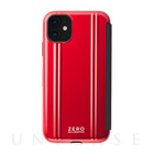 【iPhone11 ケース】ZERO HALLIBURTON Hybrid Shockproof Flip case for iPhone11 (Red)