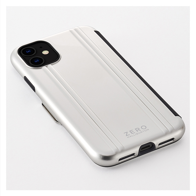 【iPhone11/XR ケース】ZERO HALLIBURTON Hybrid Shockproof Flip case for iPhone11 (Black)サブ画像