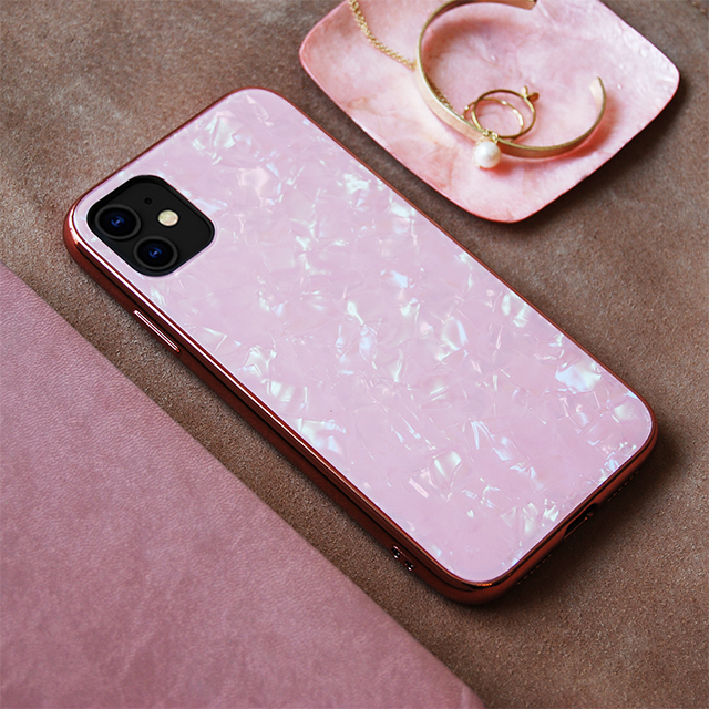 【iPhone11/XR ケース】Glass Shell Case for iPhone11 (pink)サブ画像