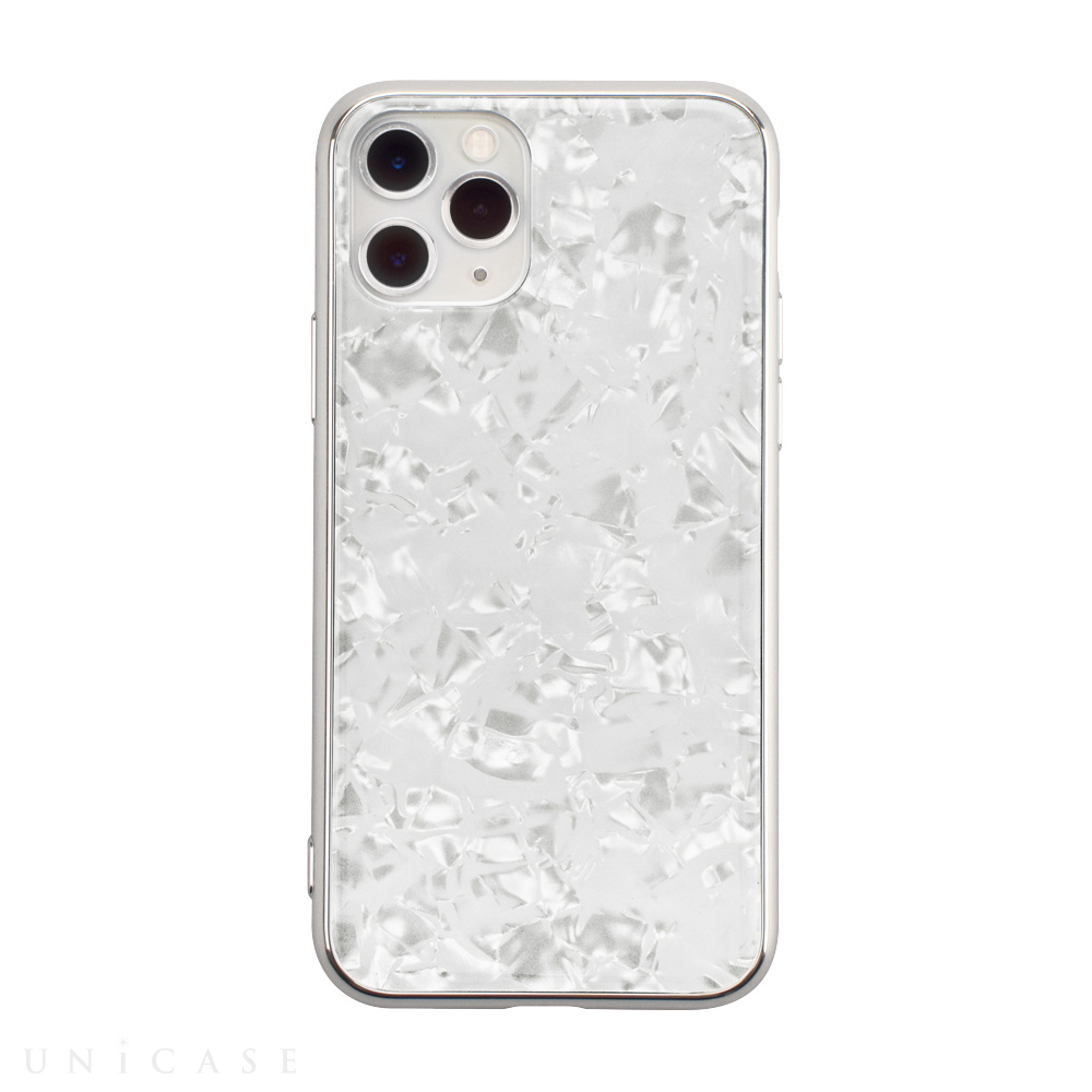 【iPhone11 Pro ケース】Glass Shell Case for iPhone11 Pro (white)