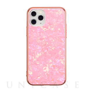 【iPhone11 Pro ケース】Glass Shell Case for iPhone11 Pro (pink)