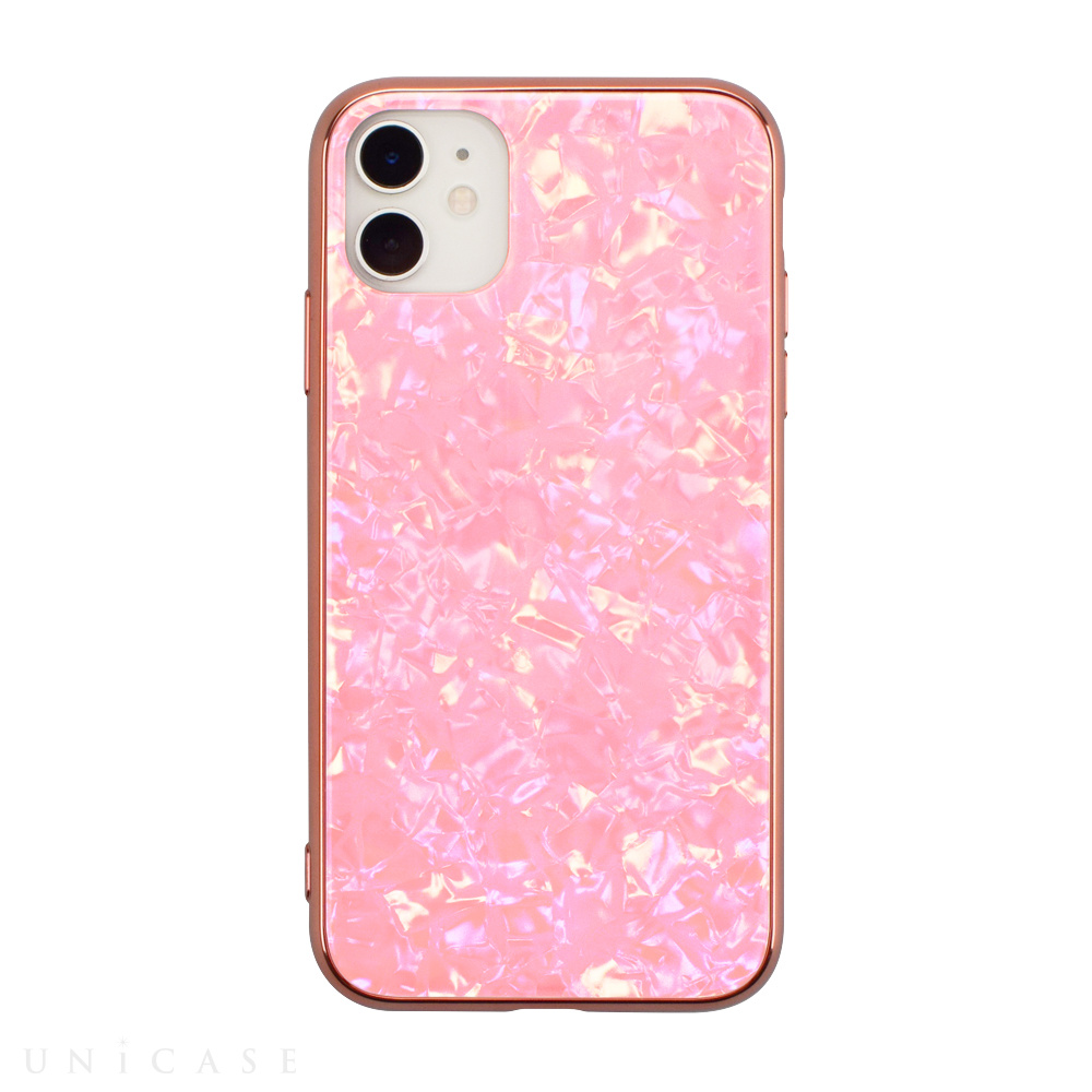 【iPhone11/XR ケース】Glass Shell Case for iPhone11 (pink)