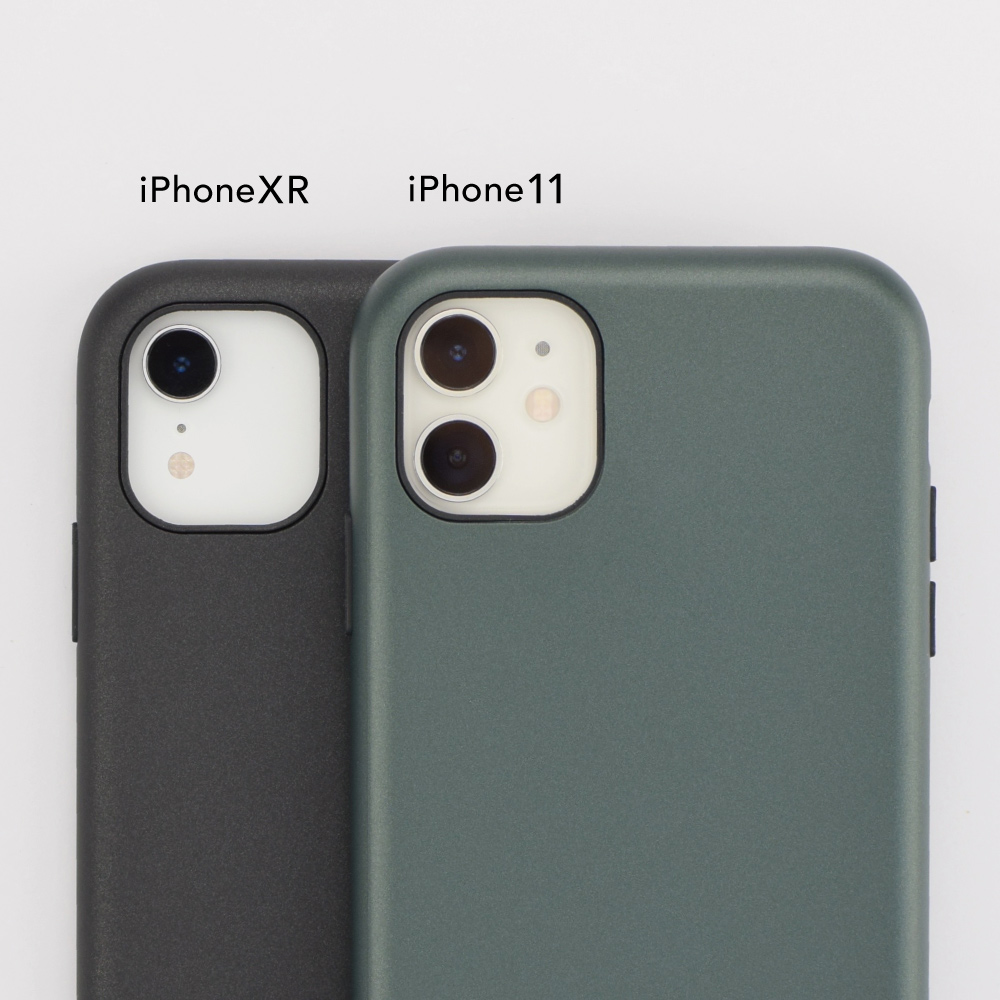 【iPhone11/XR ケース】Smooth Touch Hybrid Case for iPhone11 (blue gray)サブ画像