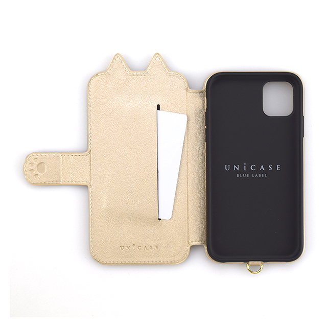 【iPhone11 Pro ケース】Tassel Tail Cat Flip Case for iPhone11 Pro (gold)サブ画像