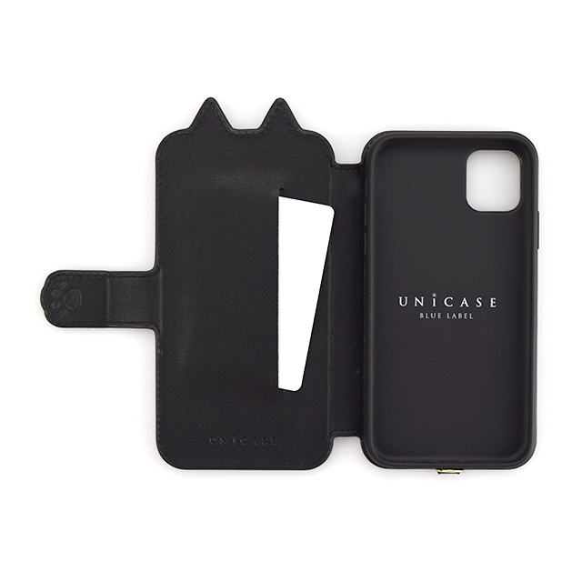 【iPhone11/XR ケース】Tassel Tail Cat Flip Case for iPhone11 (black)サブ画像