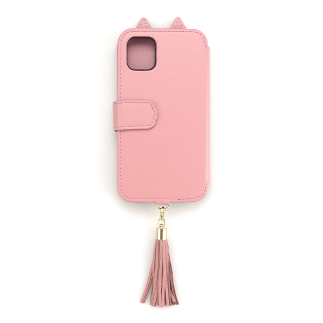 【iPhone11/XR ケース】Tassel Tail Cat Flip Case for iPhone11 (pink)サブ画像