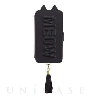 【iPhone11/XR ケース】Tassel Tail Cat Flip Case for iPhone11 (black)