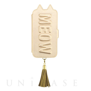 【iPhone11/XR ケース】Tassel Tail Cat Flip Case for iPhone11 (gold)