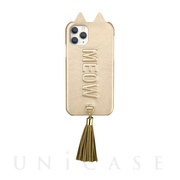 【iPhone11 Pro ケース】Tassel Tail Cat Case for iPhone11 Pro (gold)
