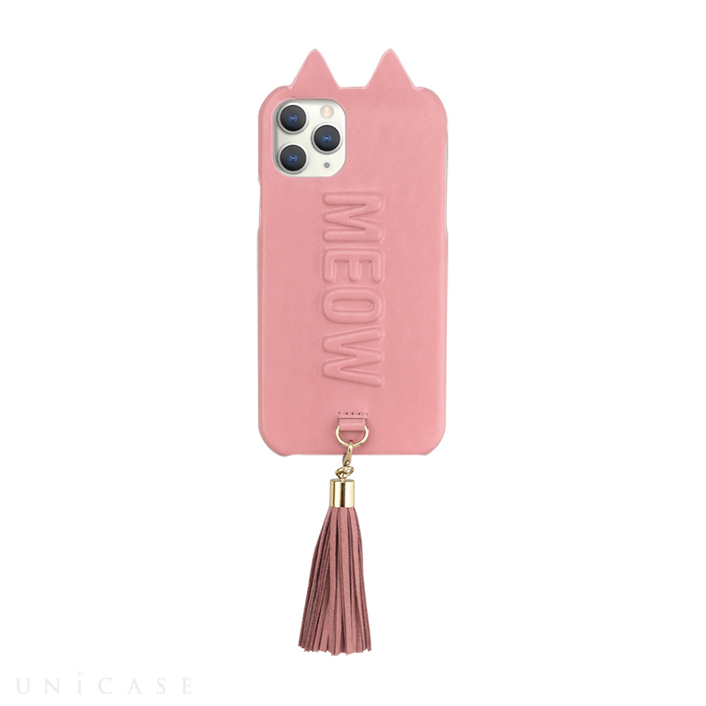 【iPhone11 Pro ケース】Tassel Tail Cat Case for iPhone11 Pro (pink)