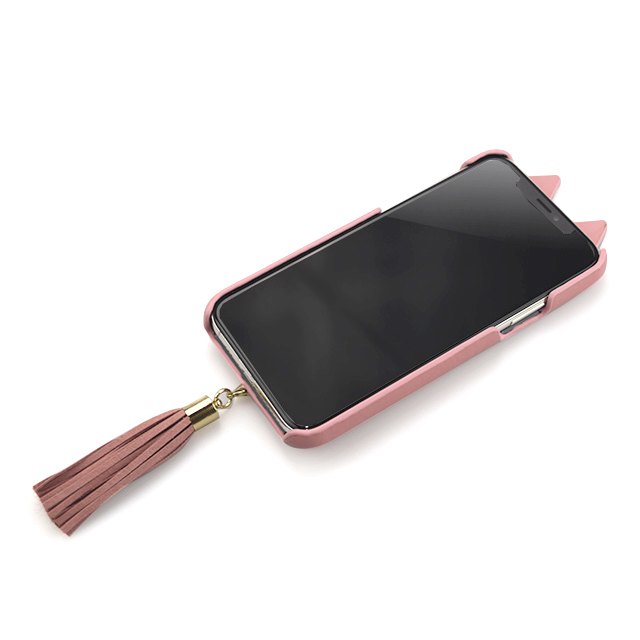 【iPhone11 Pro ケース】Tassel Tail Cat Case for iPhone11 Pro (pink)サブ画像
