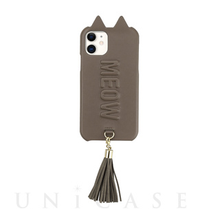 UNiCASE BLUE Label(ユニケース ブルー レーベル)【iPhone11/XR ケース】Tassel Tail Cat Case for iPhone11 (gray)