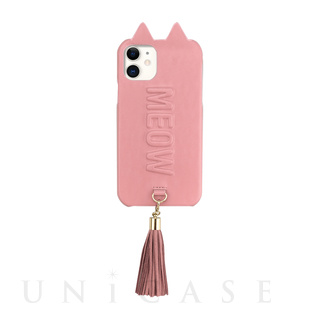【iPhone11/XR ケース】Tassel Tail Cat Case for iPhone11 (pink)