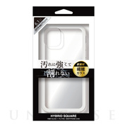 【iPhone11 ケース】背面型繊維ガラスケース HYBRID SQUARE (Clear)