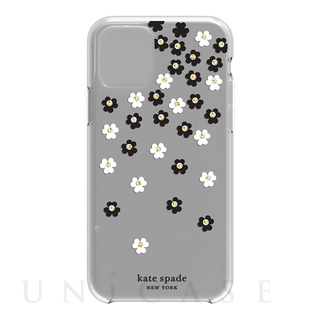 【iPhone11 Pro ケース】Protective Hardshell -SCATTERED FLOWERS BK/WH/GG/CL