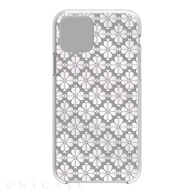 【iPhone11 Pro ケース】Protective Hardshell -SPADE FLOWER pearl foil/CG