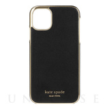 【iPhone11 ケース】INLAY WRAP -black pu