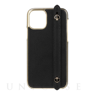 【iPhone11 Pro ケース】INLAY WRAP WITH STRP WITH SPADES -black crumbs