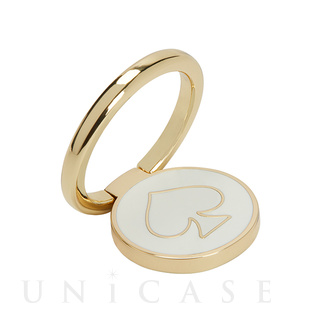 RING STAND (SPADE OUTLINE white/gold)