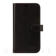 【iPhone11 Pro ケース】LEATHER WALLET CASE (MIDNIGHT BLACK) Leather Folio
