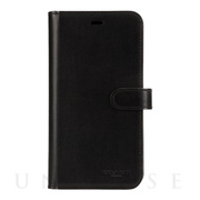 【iPhone11 ケース】LEATHER WALLET CASE (MIDNIGHT BLACK) Leather Folio