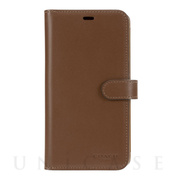 【iPhone11 ケース】LEATHER WALLET CASE (SADDLE) Leather Folio