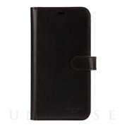 【iPhone11 Pro Max ケース】LEATHER WALLET CASE (MIDNIGHT BLACK) Leather Folio