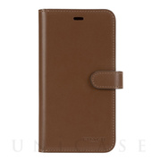 【iPhone11 Pro Max ケース】LEATHER WALLET CASE (SADDLE) Leather Folio