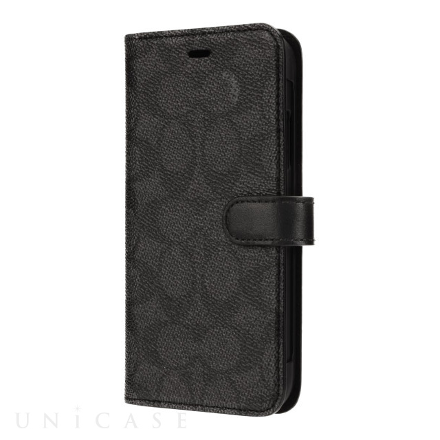 【iPhone11 Pro ケース】WALLET CASE SIGNATURE C FOLIO (Black)