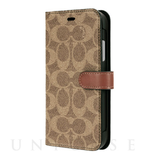 COACH(コーチ)【iPhone11 ケース】WALLET CASE SIGNATURE C FOLIO (Khaki)