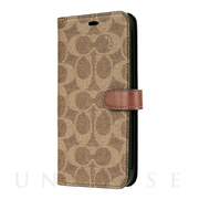 【iPhone11 Pro Max ケース】WALLET CASE SIGNATURE C FOLIO (Khaki)