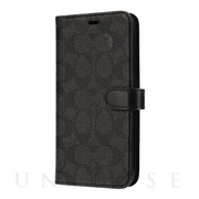 【iPhone11 Pro Max ケース】WALLET CASE SIGNATURE C FOLIO (Black)