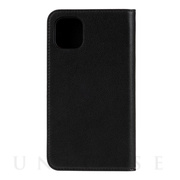【iPhone11 ケース】2-PIECE FOLIO CASE (Black Leather/White Vertical Logo)