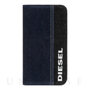 【iPhone11 ケース】2-PIECE FOLIO CASE (BD/Black Denim White Diesel Logo)