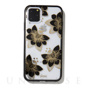 【iPhone11 Pro Max ケース】CLEAR COAT (DESERT LILY (BLACK))