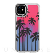 【iPhone11 ケース】Black Summer Palm Tree / Neon Sand Blue Pink