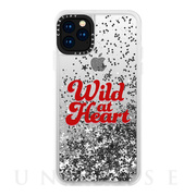 【iPhone11 Pro ケース】Wild at Heart [Red] / Glitter / Silver