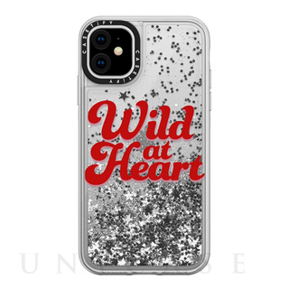 【iPhone11 ケース】Wild at Heart [Red] / Glitter / Silver