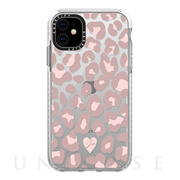 【iPhone11 ケース】Impact Case (Dusty Pink Leopard Phone Case/Frost)