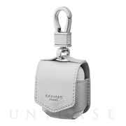 "【AirPods ケース】""EURO Passione"" PU Leather Case (Silver)"