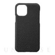 【iPhone11 Pro ケース】Shrunken-Calf Leather Shell Case (Black)
